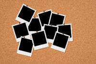 Polaroid Frames on Bulletin Board