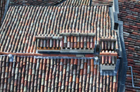 Medieval roof and tiles