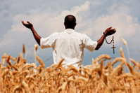 Praying to God for good harvest