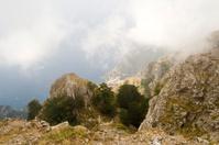 Positano Village Beyond the Rocks of Mount Faito