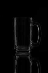 Empty beer mug.
