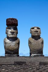 Tongariki Moais, Easter Island, Chile
