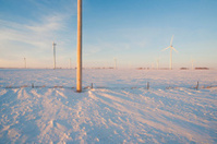 power lines on the Minnesota prairie