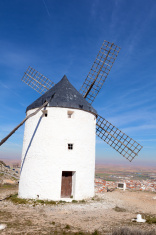 Medieval windmills in Consuegra, Toledo province, Spain