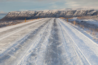 Iceland main road in winter
