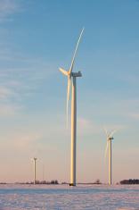 wind turbines on the Minnesota Prairie
