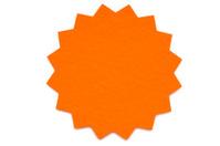 Orange star shaped postit note