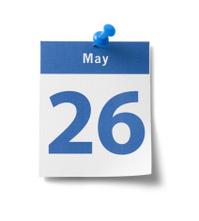 May 26th Calendar