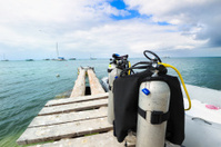 Diving equipment ready to onboard