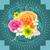 Beautiful Floral Ornament Background