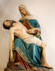 pieta from Vienna chruch - carving