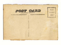 Vintage Postcard with Grunge Edges