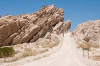 Winding steep mountain pass , Cachi, Argentina
