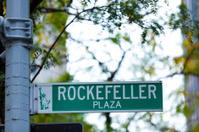 Rockefeller plaza street sign in New York City