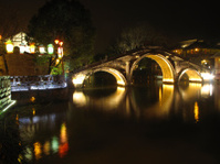 Bridge in Chinese town of Wuzhen