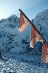 Prayer flags at Mount Everest