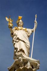 Vienna - Athena fountain for parliament