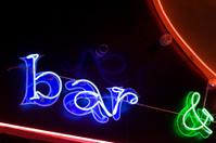 Abstract neon sign BAR