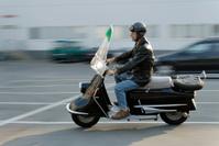retro motor-scooter