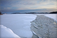 Path of ice breaker