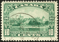 Windsor Castle on an old Canadian postage stamp