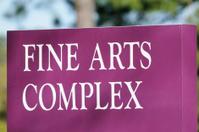 Fine arts complex sign
