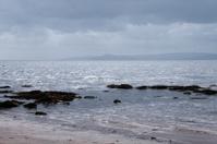 Overcast Holy Island