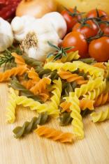 Raw italian tricolore pasta