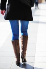 Pedestrian on sidewalk