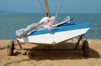 Sailing dinghy on the beach