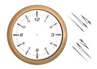 Office Wooden Wall Clock