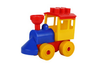 Colourful plastic toy train