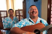 Carribean music band - guitar player