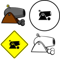 cannon illustration sign and symbol