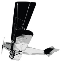 Single engine propeller airplane