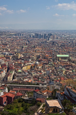 Naples aerial view ,Italy