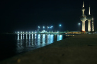 Kuwait city & towers by the night
