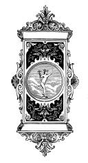 Letterhead with Mercury, Roman god of trade