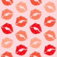Lipstick Print Pattern Seamless