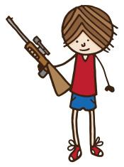 Boy holding a rifle