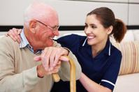 Senior Man with His Nurse