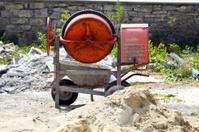 Concrete mixer and hand barrow