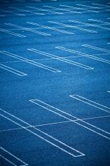 Large Empty Parking Lot
