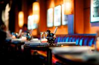 Dining at Upscale Bar