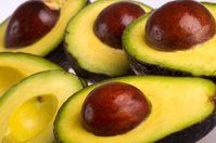 Avocados isolate on white background