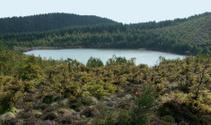 small lake at the Azores