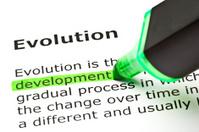 'Development' highlighted, under 'Evolution'
