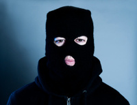 Terrorist or burglar wears a mask