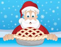 Santa with a Pie