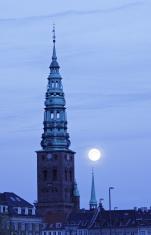 Christiansborg Palace Chapel by night